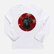 Thinker Black Lab Pup Long Sleeve Infant T-Shirt