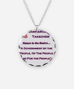 Conservative Takeover Basics Necklace