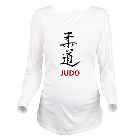 Judo Long Sleeve Maternity T-Shirt