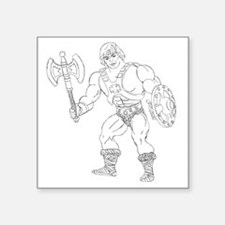 "He man Square Sticker 3"" x 3"""