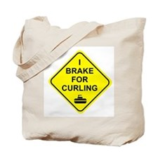 I Brake for Curling, Tote Bag