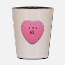 Bite Me Heart Shot Glass