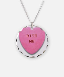 Bite Me Heart Necklace
