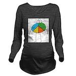 Peace Cartoon Long Sleeve Maternity T-Shirt