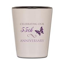 55th Wedding Aniversary (Butterfly) Shot Glass