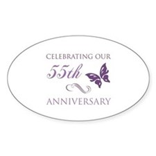 55th Wedding Aniversary (Butterfly) Decal