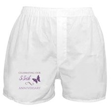 55th Wedding Aniversary (Butterfly) Boxer Shorts