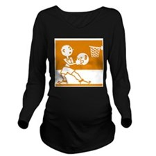 Retro Basketball Long Sleeve Maternity T-Shirt