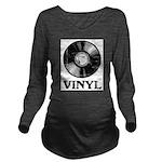 Vinyl Long Sleeve Maternity T-Shirt