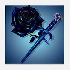 The Black Rose and Dagger_mpad Tile Coaster