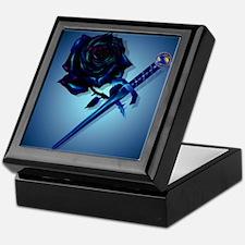 The Black Rose and Dagger_mpad Keepsake Box