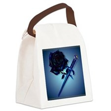 The Black Rose and Dagger_mpad Canvas Lunch Bag