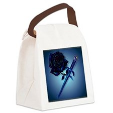 The Black Rose and Dagger_pillow Canvas Lunch Bag