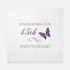 45th Wedding Aniversary (Butterfly) Queen Duvet