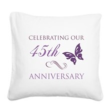 45th Wedding Aniversary (Butterfly) Square Canvas