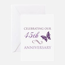 45th Wedding Aniversary (Butterfly) Greeting Card
