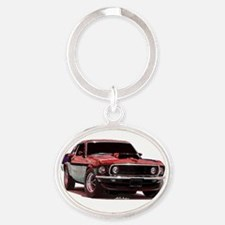 69fastback Oval Keychain