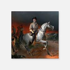 "Robert E Lee Gettysburg Square Sticker 3"" x 3"""