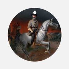 Robert E Lee Gettysburg Round Ornament