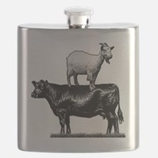 Goat on cow-1 Flask