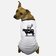 Goat on cow-1 Dog T-Shirt
