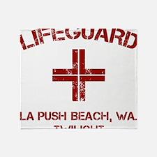 Lifeguard twilight Throw Blanket