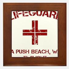 Lifeguard twilight Framed Tile