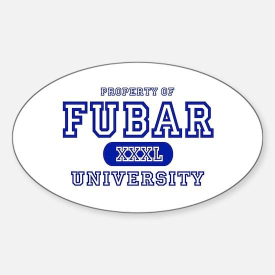 Fubar University Oval Decal