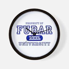 Fubar University Wall Clock