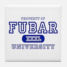 Fubar University Tile Coaster