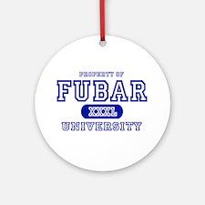 Fubar University Ornament (Round)