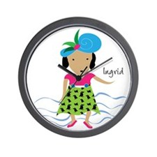 girl with hat-Ingrid Wall Clock