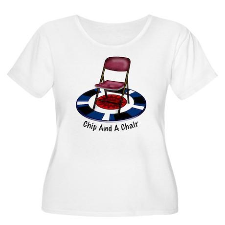 ChipAndChairC Women's Plus Size Scoop Neck T-Shirt
