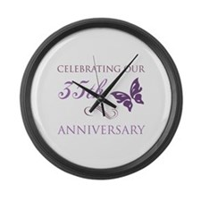 35th Wedding Aniversary (Butterfly) Large Wall Clo