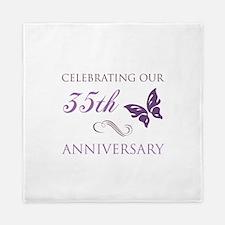 35th Wedding Aniversary (Butterfly) Queen Duvet