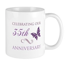35th Wedding Aniversary (Butterfly) Small Mugs