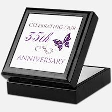 35th Wedding Aniversary (Butterfly) Keepsake Box