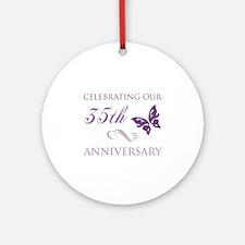 35th Wedding Aniversary (Butterfly) Ornament (Roun
