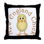 New England Chick Throw Pillow