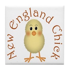 New England Chick Tile Coaster