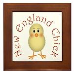 New England Chick Framed Tile