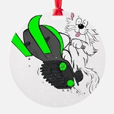 Snowmobile Green II for Dark Appare Ornament