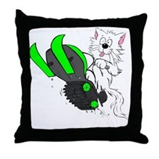 Snowmobile Green II for Dark Apparel Throw Pillow