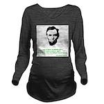Abraham Lincoln Long Sleeve Maternity T-Shirt