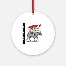 BBQ WarriorReverse - Reduced Round Ornament