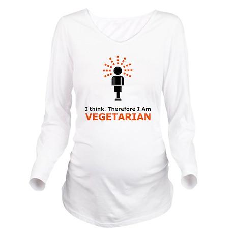 I Think Long Sleeve Maternity T-Shirt