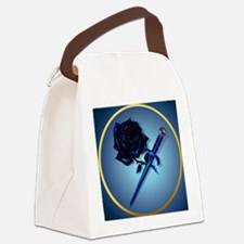 The Black Rose and Dagger-Circle Canvas Lunch Bag