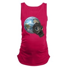 Gas Mask Earth Maternity Tank Top