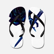 The Black Rose and Dagger Trans Flip Flops