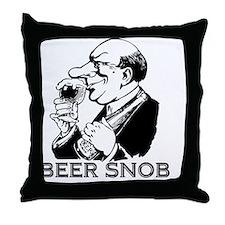 beersnob_black Throw Pillow